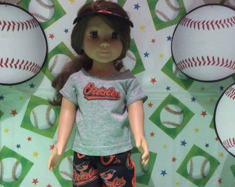 Baltimore  ORIOLES ! 18 Inch Doll Clothes ,Handmade ,Fits All  18 Inch Dolls  Baseball Outfit