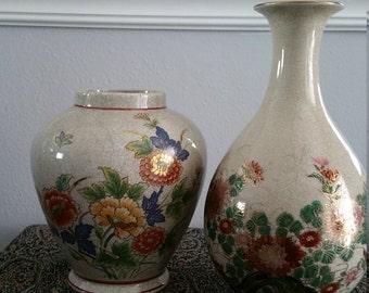 Andrea Asian Motif Vase Pair