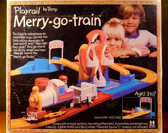 Tomy Playrail Merry-Go-Train in the original box, clean and working!