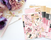Too Glam Vertical Weekly Kit-- Matte Planner Stickers