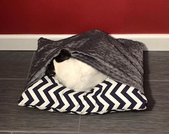Snuggle soft burrow dog bed