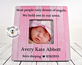 ON SALE Baby Memorial Picture Frame, Child Memorial Frame, Most People Only Dream Of Angels, Loss Of A Child, In Memory Of Picture Frame
