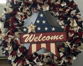 Patriotic , Welcome Wreath