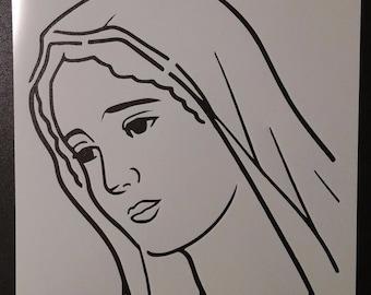 Virgin Mary Custom Stencil FAST FREE SHIPPING
