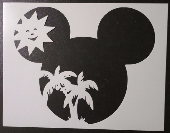 Summer Sun Palm Tree Mickey Mouse Custom Stencil FAST FREE