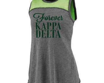Kappa Delta Cherish Tank - Kelly Green Print (unless noted otherwise)