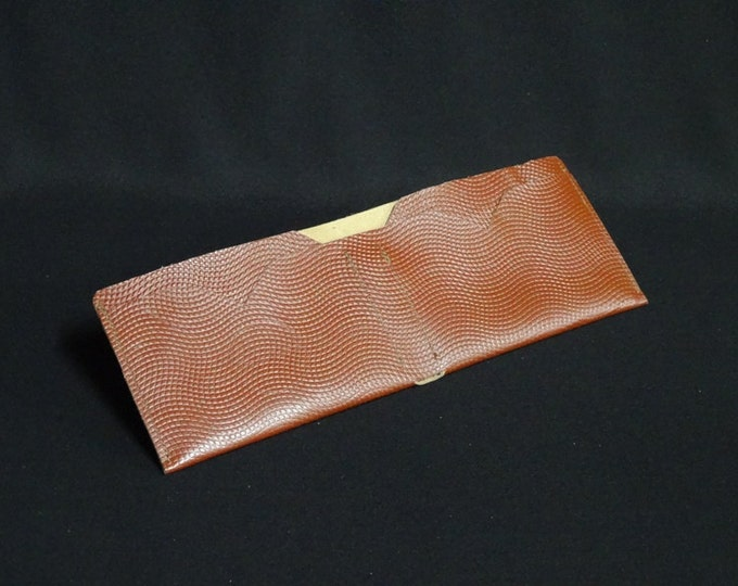 Bantam Note Wallet - Basket Ball Brown - Kangaroo leather with RFID Credit Card Blocking - Handmade - James Watson