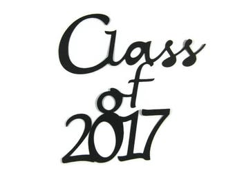 Class Of 2017 Die Cut set of 4