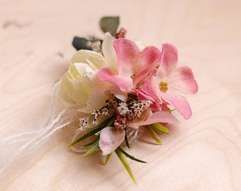 flower Newborn headband, Tie back, Photo Prop, Newborn Tieback, Pastel Headband, Baby Tieback