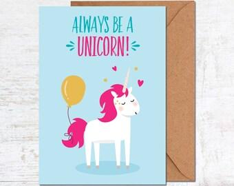 Unicorn Birthday Card, Unicorn Card, Birthday Card Friend, Birthday Card Funny, Birthday Card Girlfriend, Cute Birthday Card, Animal Card