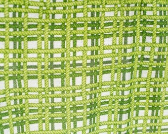Green Barkcloth Vintage Retro Pair of Curtains - Mid Century Modern Home