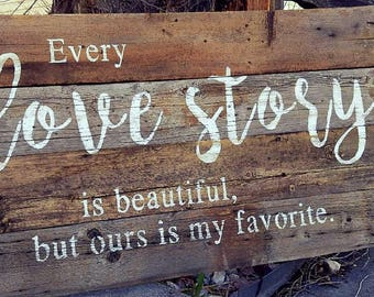 Barnwood Sign - Love Story