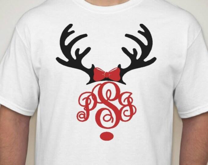 Monogram Reindeer Shirt