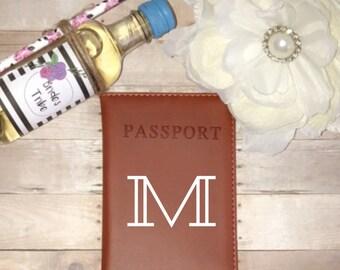 New! Monogram passport holder, initial passport cover, bridesmaid gifts, custom bridal party gift, personalized passport cover, custom