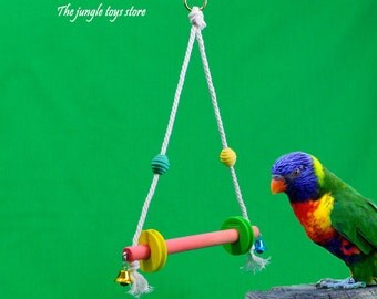 Jolie swing 8'' (20 cm) wide x 12'' (30cm) to attach to your cage, ideal for parakeets and other small birds iséparables!