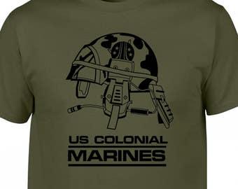 alien aliens 1979 1986 prometheus covenant weyland yutani nostromo sulaco sci fi film movie lv 426  marines ripley military tee t shirt