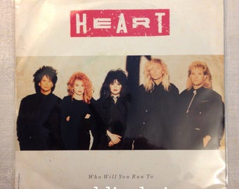 "Heart - Who will You Run To - Rare Promo Vinyl Capitol Record 1987 7"" Single 45 rpm Picture Sleeve 1987 VG+"