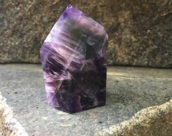 Polished Deep Purple Amethyst Quartz Point From Brazil Specimen 47.9g, Healing Stones, Metaphysical, Pagan, Wicca, Hippie