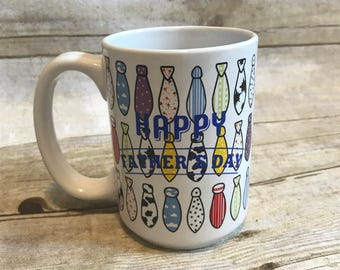 Happy fathersday tie mug