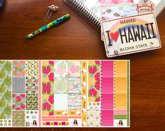 Tropical Sunrise Planner Stickers, Weekly Kit, Erin Condren Planner Stickers, Happy Planner Stickers
