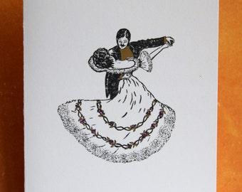 Elegant dancing Valentine's Day card
