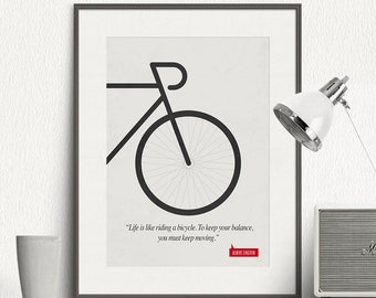 Poster Quote - Albert Einstein - Art Print, Minimalist Poster, Quote Poster Print, Illustration, Inspirational Quote, Wall Art Print - SG015