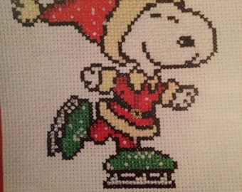 Christmas Snoopy Cross Stitch Pattern