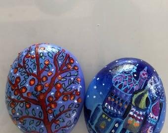 """Painted pebbles """"Saint Petersburg"""""""