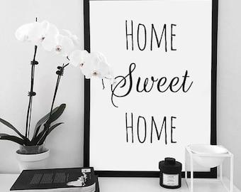 "Poster ""home sweet home"" + framework"