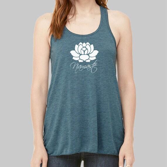 Yoga Tank Top Lotus Tank Top Namaste Graphic Tank Graphic
