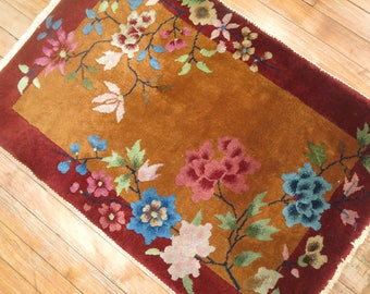 Antique Decorative Chinese Art deco Rug 1'11''x2'10''