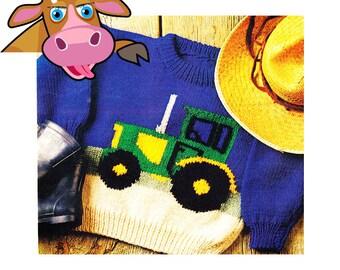 Knitting Pattern Tractor Jumper : Crochet tractor Etsy
