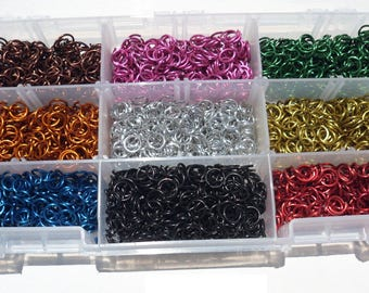 Jeweler Starter Kit JUMP RINGS Anodized Aluminum 1/4 16g American Chainmail