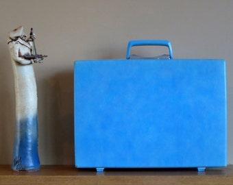 Spring Sale Vintage Samsonite Baby Blue Hard Shell Briefcase Attache - Rare Retro