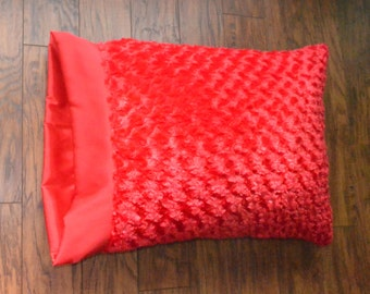 All Red Minky Pillowcase