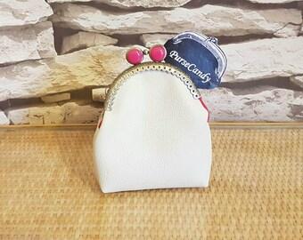 CREAM DREAM - Lovely cream leather look coin purse