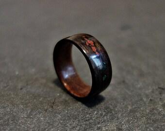 Handmade Macassar Ebony Wooden Ring