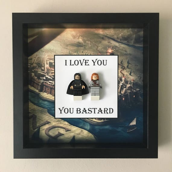 Game Of Thrones Love Minifigure Frame, Mum, Gift, Geek, Box, Dad, Idea, For Her, For Him, Anniversary, Couple, Lego,