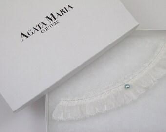 SALE !!! MIA,Something Blue and Ivory Lace Wedding Garter, Bridal Garter, Bridal Lingerie, Bridal Shower Party Gift, Garter Gift Set