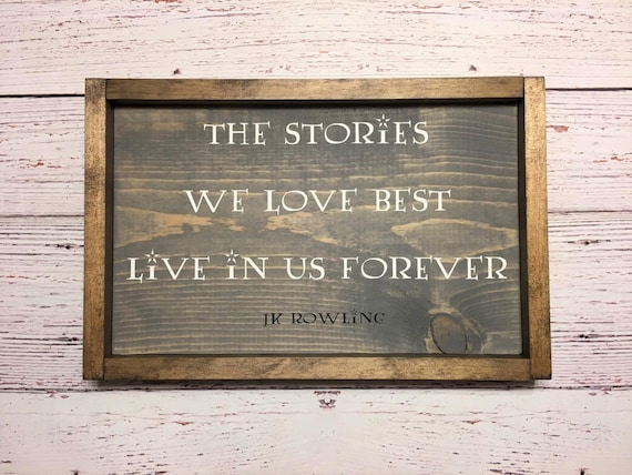 Harry Potter Framed Wood Sign JK Rowling Quote Wall Art