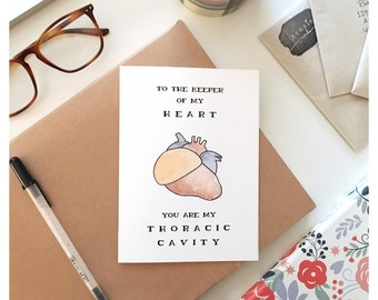 SCIENCE CARD // nerdy card, card for nerd, anatomy card, funny nerd card, card for doctor, funny valentines day card, card, medical joke