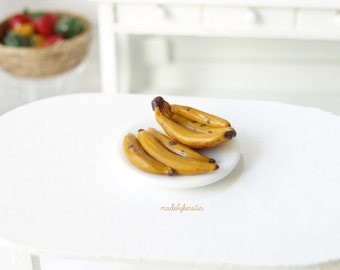 Miniature Bananas, Miniature fruit, Miniature Food, 1:12 bananas, Dollhouse bananas - Miniature Dollhouse Food, 12th scale