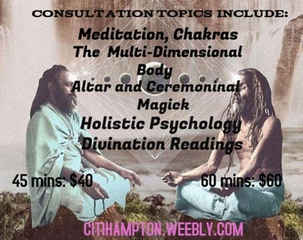 60 min Consultation Or reading