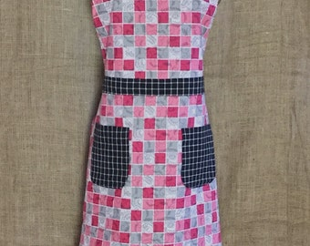 Pretty in Pink Reversible Apron. Perfect for Valentine's Dinner and Beyond!
