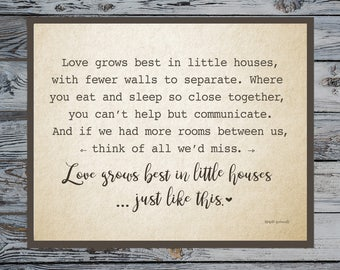 Love Grows Best • Little Houses • Home Decor •