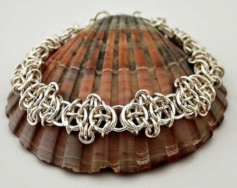 Silver Plated Chainmaille Bracelet, Silver Bracelet, Silver Plated Bracelet, Chain Mail Bracelet, Chainmail Bracelet
