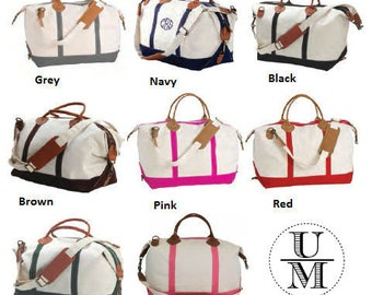 Weekender Bag, Monogram Bag, Personalized Bag