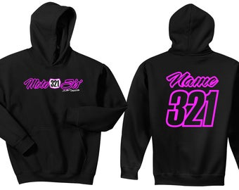 Moto Sis' Sister Toddler Hoodie Sweat Shirt MX Number Plate Motocross Just Ride Dirt Bike Youth Child