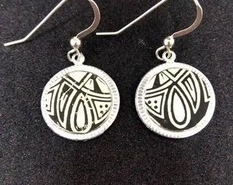 Tin Earrings - Handmade jewelry