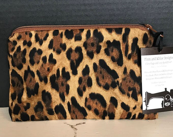 Animal Print Bag | Make-up bag, Fun bag, Money bag, Art Supply Bag, Plum & Khloe Designs Bag